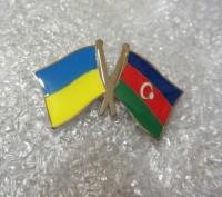 Значок Украина-Азербайджан