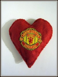 Валентинка Сердце Манчестер Юнайтед