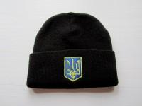 Шапка Украина Трезубец черная
