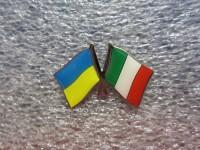 Значок Украина - Италия