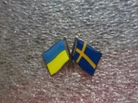 Значок Украина - Швеция
