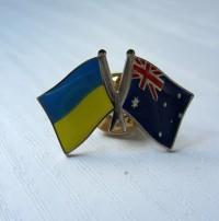 Значок Украина - Австралия