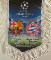 Вымпел матчевый Барселона - Бавария