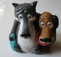 Копилка Пёс и волк