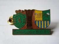 Значок к матчу Спортинг - Металлист 2012 г