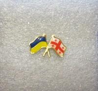 Значок флаг Украина-Грузия