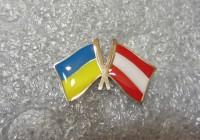 Значок Украина-Австрия
