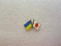 Значок Украина - Япония