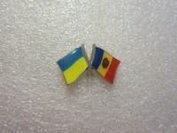 Значок Украина - Молдова