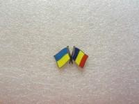 Значок Украина - Румыния
