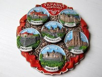 Тарелка сувенирная Украина замковая